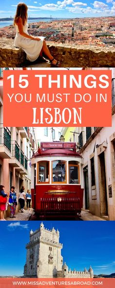 Top 15 Things To Do And See In Lisbon, Portugal · Discover 15 things you must do on a trip to Lisbon! Stop by the incredible Lisbon aquarium, find the best viewpoints in the city, listen to traditional fado music, and visit the city's many historic sites. There is so much to do and see in this beautiful, colorful, and historic Portuguese capital.