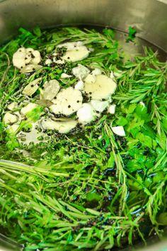Άλμη Seaweed Salad, Diy Food, Green Beans, Cauliflower, Grilling, Pork, Vegetables, Cooking, Ethnic Recipes