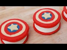 Captain American ice cream sandwiches. If you think there's a better desert for the Fourth of July you're wrong!