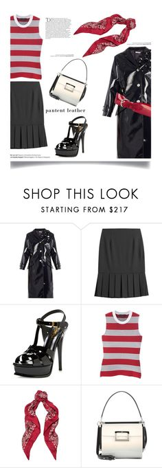 """Sleek and Simple'"" by dianefantasy ❤ liked on Polyvore featuring Miu Miu, Michael Kors, Yves Saint Laurent, Alexander Wang, Roger Vivier, Balmain, Isabel Marant, patentleather, polyvoreeditorial and patternmixing"