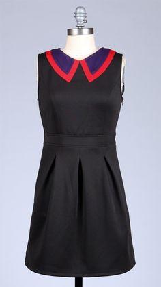 TULLE Stitch Collar Retro Sixties Mod Mini Dress | atomretro.com