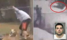 Caught in the act: Man films disturbing footage of his neighbor kicking a dog in the head and throwing it into a tree   http://www.dailymail.co.uk/news/article-3000605/Caught-act-Man-films-disturbing-footage-neighbor-kicking-dog-head-throwing-tree.html
