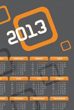 Calendar Templates Free 2013