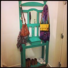 Upcycled hall stand, annie sloan Florence, vintage home