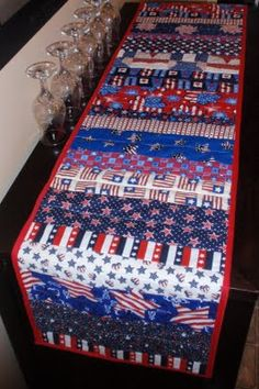 4th of july table runner idea