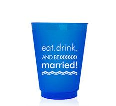 16oz. Wedding Colors Frosted Plastic Cup