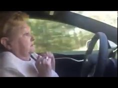 Watch This Grandmother Freak Out Behind The Wheel of Self-Driving Tesla Driving Tips, Self Driving, Freak Out, Phobias, Hilarious, Funny, Picture Video, Pilot, World