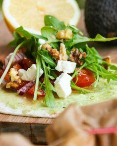 Avocado-Feta-Wraps - Foodblog - Kochgehilfin