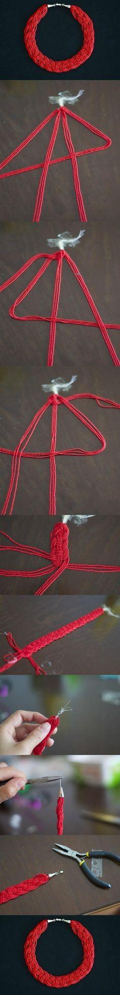 DIY Simple Bead Necklace DIY Projects / UsefulDIY.com