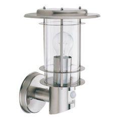 Modern Exterior Sensor Light Fixture in Stainless Steel