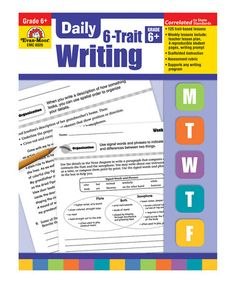 Take a look at this Daily 6-Trait Writing Paperback: Grade 6 by Evan-Moor Educational Publishers on #zulily today!