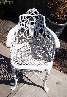 Superieur Wrought Iron Chairs, Romantic Cottage, Porch Ideas, Irons, Settees, Antique  Shops, Benefit, Shabby Chic, Victorian