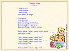 """Me encanta escribir en español : cancion """"comer bien"""" (haz clic para escucharla)"""