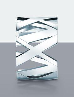 Bold numerals form a striking Atlas® cuff. #Atlas #silver #TiffanyPinterest