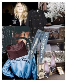 """""""Ripped blues"""" by marabellax ❤ liked on Polyvore featuring 3.1 Phillip Lim, Balenciaga and Valentino"""