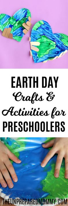 These Earth Day activities and crafts for preschoolers are sure to inspire them to learn more about the Earth and recycling! #earthday