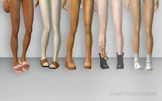 Always Sims: Only Shoes (Pantless) - AF