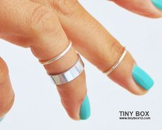 Silver Knuckle Ring Set of 3 Above the Knuckle Rings, Stacking  Midi Ring, Rings,  Mid Knuckle Ring by TinyBox12 on Etsy https://www.etsy.com/listing/154531298/silver-knuckle-ring-set-of-3-above-the