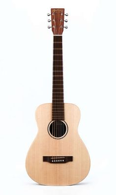 Martin: LX1E Little Martin Electro-Acoustic Guitar --> While the Little Martin is our smallest guitar, it is very big on tone, quality and versatility. The LX1E acoustic electric model features a solid Sitka spruce top, mahogany high-pressure laminate (HPL) back and sides, and a warm satin finish. It's ideal for travel, student practice or for just playing around the house or campfire.