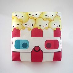 Yummy Popcorn 3D, $15, now featured on Fab. [Pillow, Mimi Cha, mymimi]