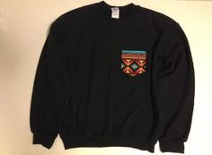 Unisex Custom Patch Pocket Crew Neck Sweatshirt by EEHCUOY on Etsy