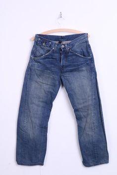Levis Mens W28 L34 Trousers Jeans Denim Engineered Jeans Blue - RetrospectClothes