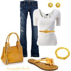 """Daisies"" by kaseyofthefields on Polyvore"