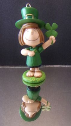 St  Patrick s Day Ornament Peanuts Peppermint Patty 2014 Collectible Home Decor