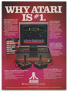 Vintage ATARI ad.  Video game were a time sink for kids even in the 70s.  There was no save so you either left it on for days or started over every time.  We had tank, remember the cheat by going in to the corners?