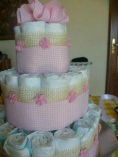 Torta di pannolini - Diaper Cake