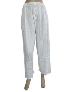 Amazon.com: Harem Pants Stonewashed Rayon White Boho Gauchos for Women: Clothing