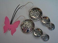 Fine Silver Dangles  Helping Hands  PMC Earrings by Silvermaven, $34.00