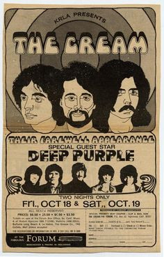 Poster for the LA Forum gig late October 1968