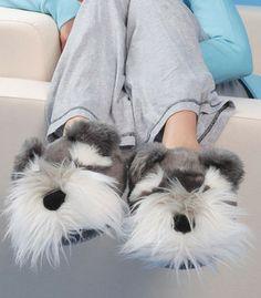 Schnauzer Dog Slippers - The Present Finder