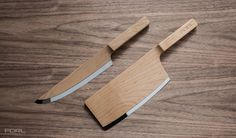 The Federal Maple Set Knives: pretty cool