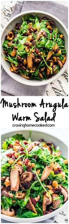 Mushroom Arugula Warm Salad
