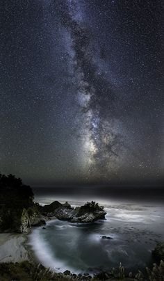McWay Cove Under the Milky Way, Big Sur, California