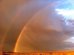 two rainbows. found in the middle of nowhere. aka - Nevada