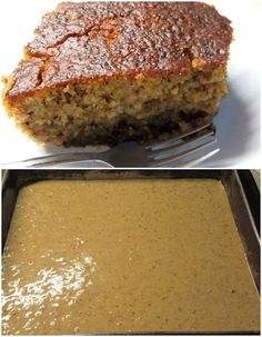 Greek Sweets, Greek Desserts, Greek Recipes, Desert Recipes, Baking Recipes, Cake Recipes, Semolina Cake, Pastry Cake, Vegan Cake