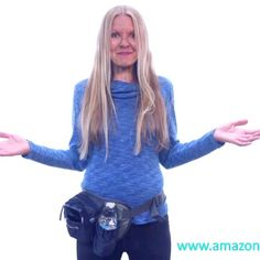Perfect for women!You stay hydrated all the time having your hands free. #women #waistbag #fannypack #blue #bottle #holder #Shimonfly #outdoor