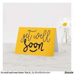 Good Luck Cards, Good Luck To You, Card Tattoo, Get Well Soon, Plant Design, Custom Greeting Cards, Zazzle Invitations, Artwork Design, Thoughtful Gifts
