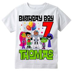 Teen Titans Go Personalized Birthday Shirt by BerryBestTees