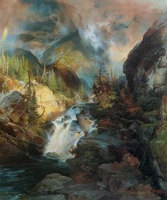 Trademark Fine Art Children of the Mountain Canvas Art by Thomas Moran, Size: 24 x Multicolor Thomas Moran, Art Thomas, Landscape Art, Landscape Paintings, Landscapes, Watercolor Landscape, Canvas Artwork, Canvas Prints, Big Canvas