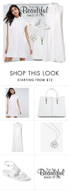 """Summer in white"" by dmg555 ❤ liked on Polyvore featuring MANGO, New Look, T By Alexander Wang and Jil Sander"