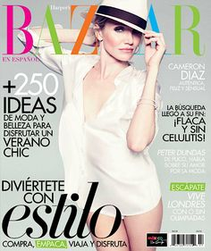 Cute cover! // Cameron Diaz covers the July 2012 issue of Harper's Bazaar Mexico.