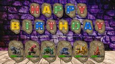 Dinotrux Happy Birthday Banner by PurplePixiesKeep on Etsy