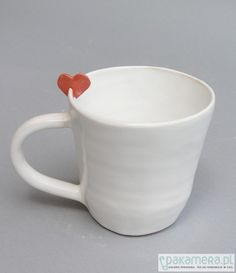 ceramic cup w/  delicate heart detail