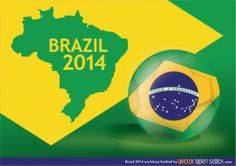 Brazil 2014 world cup map background