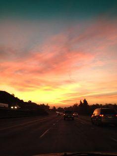 Pink skies!