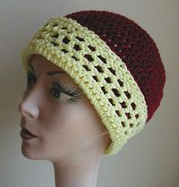 There Are Holes In My Hat -- Brim Cap Crochet Head Hugger
